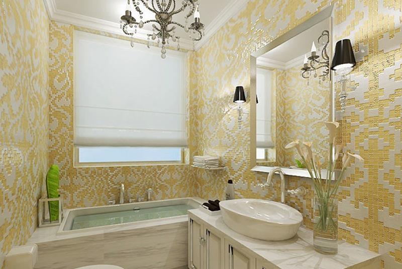 Giấy dán tường phòng tắm vừa chống nước mà vẫn mang lại nét thẩm mỹ cao