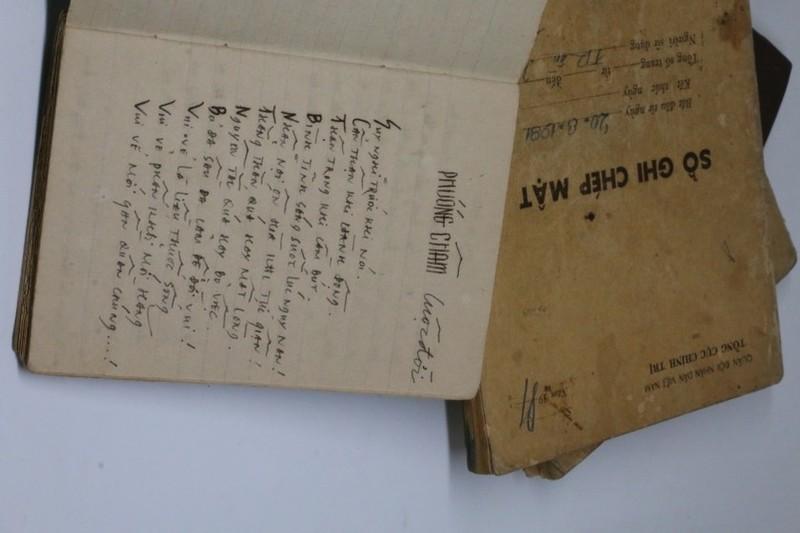 Sổ ghi chép mật và nhật ký của Nghệ sĩ nhiếp ảnh Trần Hồng sử dụng năm 1981