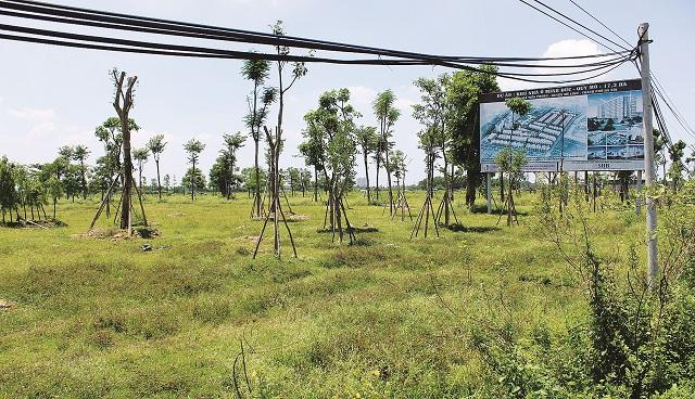Hà Nội đã tổ chức nhiều đoàn thành tra liên ngành xử lý vi phạm về đất đai và các dự án chậm triển khai trên địa bàn (trong ảnh: Dự án bỏ hoang tại xã Tiền Phong, huyện Mê Linh). Ảnh: Doãn Thành