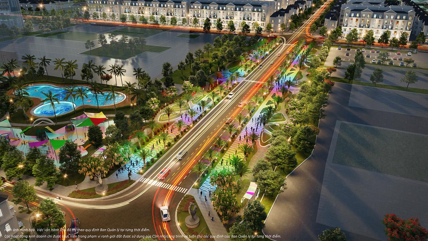 Đại lộ Ánh sáng Manhattan Glory thắp sáng và lan toả hào quang của Đại đô thị Vinhomes Grand Park