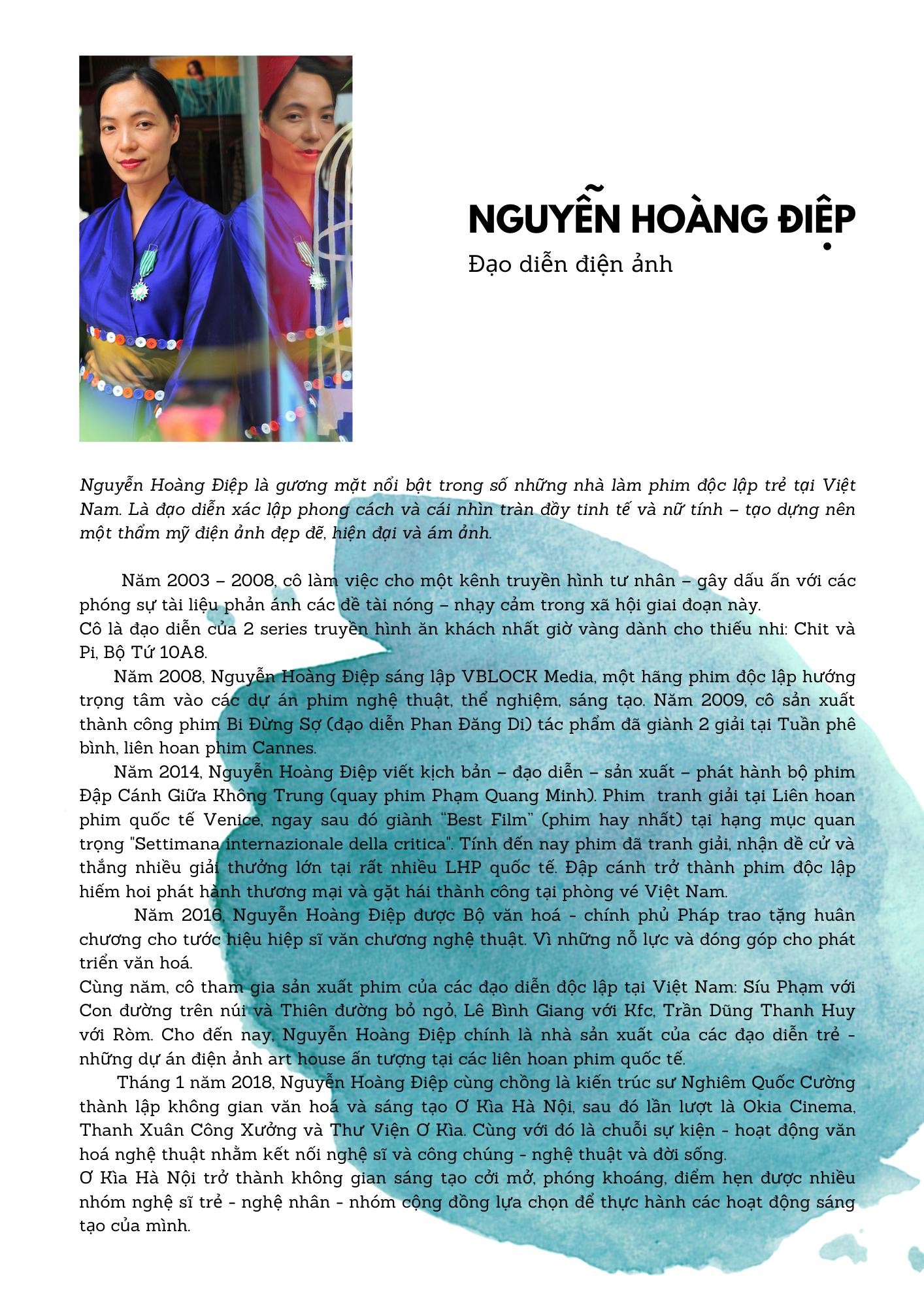 CV đạo diễn Nguyễn Hoàng Điệp