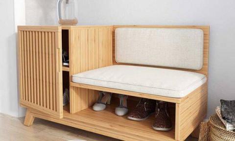 Mẫu kệ giày tích hợp ghế ngồi vừa đẹp vừa tiện dụng
