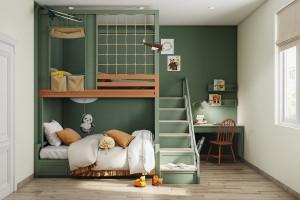 Những không gian phòng ngủ trẻ em rực rỡ sắc màu