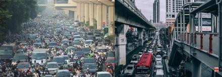So sánh Hà Nội 2020 về thực trạng giao thông và bế tắc trong các dự án đường sắt đô thị tương đương với Bangkok (Thailand) năm 2000