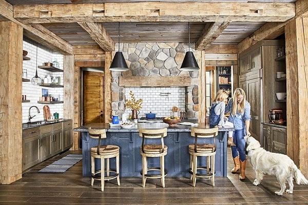 Màu xanh denim không chỉ cho không gian bếp có chiều sâu, cuốn hút, đầy tinh tế mà còn đem lại cho gia chủ cảm giác thích thú, sự bình yên, thư giãn, có hơi hướng của biển cả.