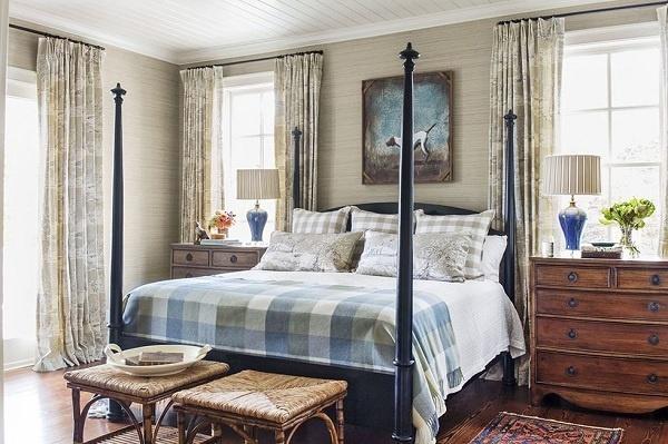 Màu nâu lúa mì mang đến cảm giác dễ chịu, sự ấm áp, gần gũi trong phòng ngủ. Đây là một trong những tông màu không thể bỏ qua.