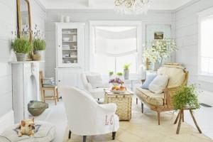 10 ý tưởng thiết kế phòng khách tông trắng