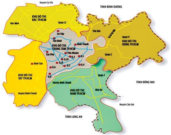 Mô hình đề xuất vùng đô thị 5 TP đồng cấp (2013)
