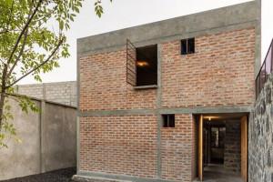 Nét độc đáo của ngôi nhà dùng gạch trần để xây ở Mexico