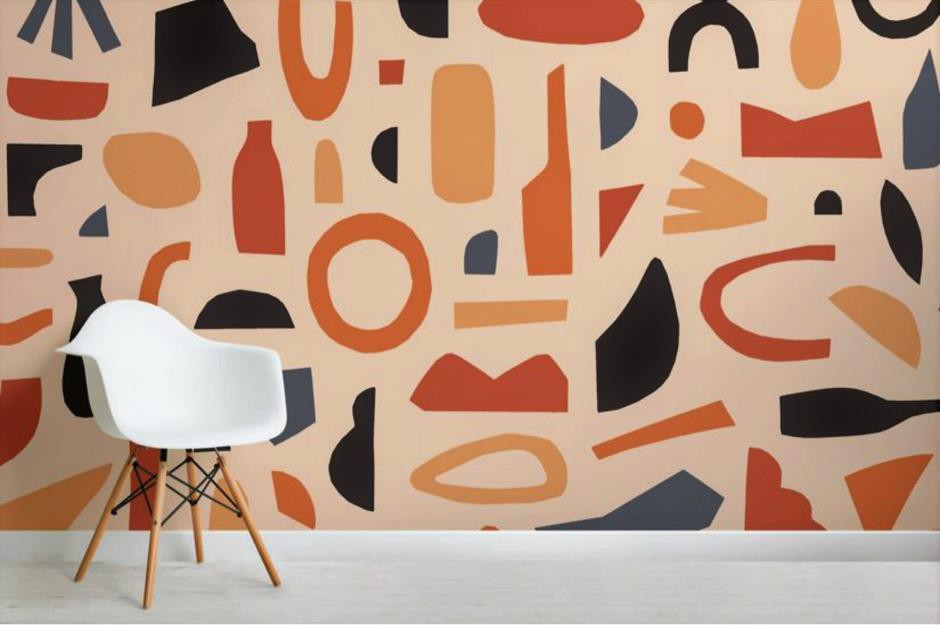 Một trong những xu hướng nội thất được ưa chuộng nửa cuối năm nay là họa tiết hình dạng trừu tượng. Chúng mang lại cảm giác mới mẻ và hiện đại trong từng đường nét.