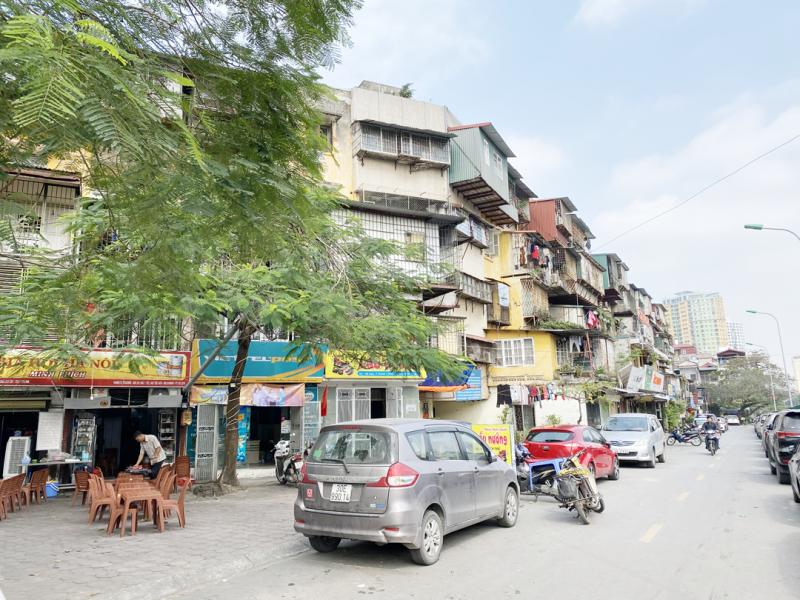 Tòa nhà G6A Thành Công nơi được đánh giá là một trong những chung cư có nguy cơ mất an toàn nhất của thành phố Hà Nội