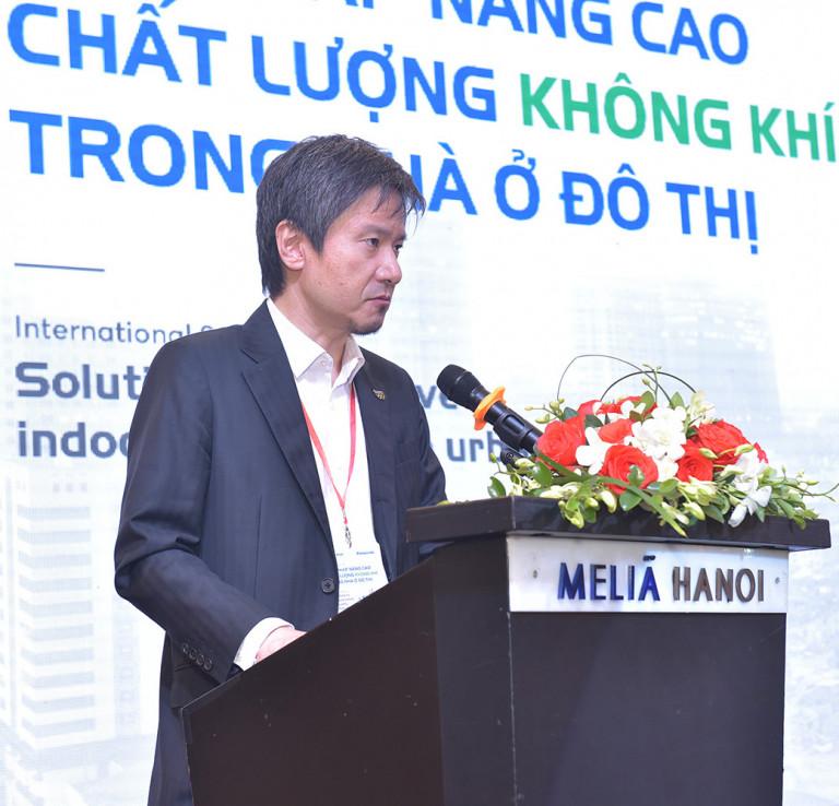 Ông Kei Taniguchi, Giám Đốc điều hành Panasonic Air-conditioning Việt Nam chia sẻ tại Hội thảo