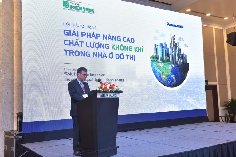 TS. KTS. Phan Đăng Sơn – Chủ tịch Hội Kiến trúc sư Việt Nam, Tổng biên tập Tạp chí Kiến trúc phát biểu khai mạc