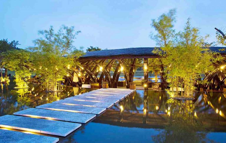Nhà hàng tre Bamboo Wing tại Flamingo Đại Lải resort - KTS Võ Trọng Nghĩa