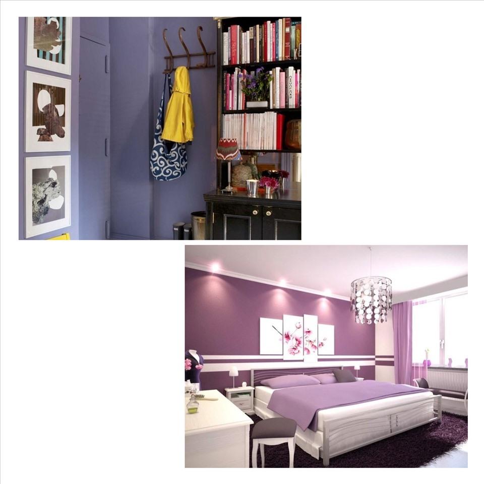 Màu tím sẽ giúp căn phòng của bạn sẽ trở nên lãng mạn, nhẹ nhàng. Ảnh minh họa: Phương Duy