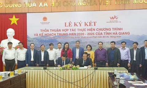 Hà Giang và Viện Kiến trúc Quốc gia – Bộ Xây dựng hợp tác quy hoạch phát triển nông thôn và đô thị