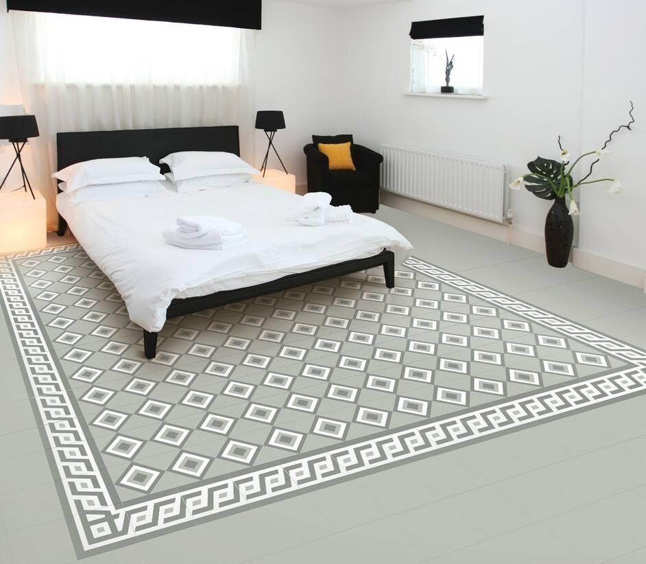 Kết hợp với gạch trơn màu, gạch bông có thể ốp lát mang đến cảm giác như một chiếc thảm trải sàn