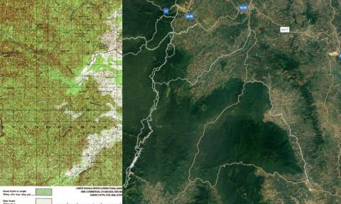 Phá rừng và những tấm bản đồ không biết 'nói dối'