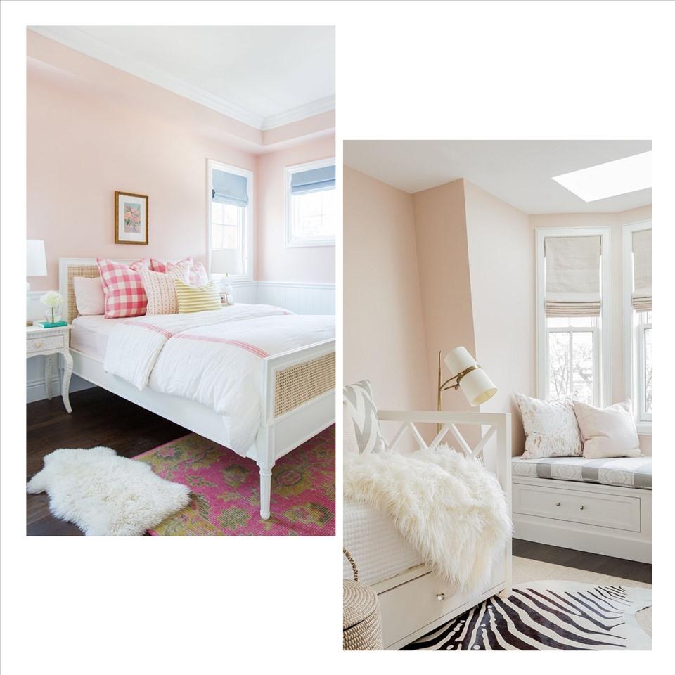 """Màu hồng phấn quả thực giúp """"ăn gian"""" diện tích khiến căn phòng trở nên rộng rãi. Ảnh minh họa: Phương Duy"""