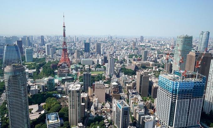 Thị trường bất động sản thương mại tại thủ đô Tokyo, Nhật Bản. Ảnh:Reuters