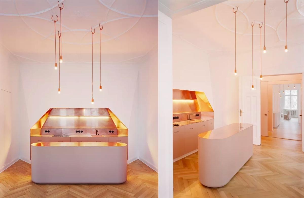 Tông màu gỗ và màu hồng là sự kết hợp tuyệt vời cho một không gian hoàn hảo
