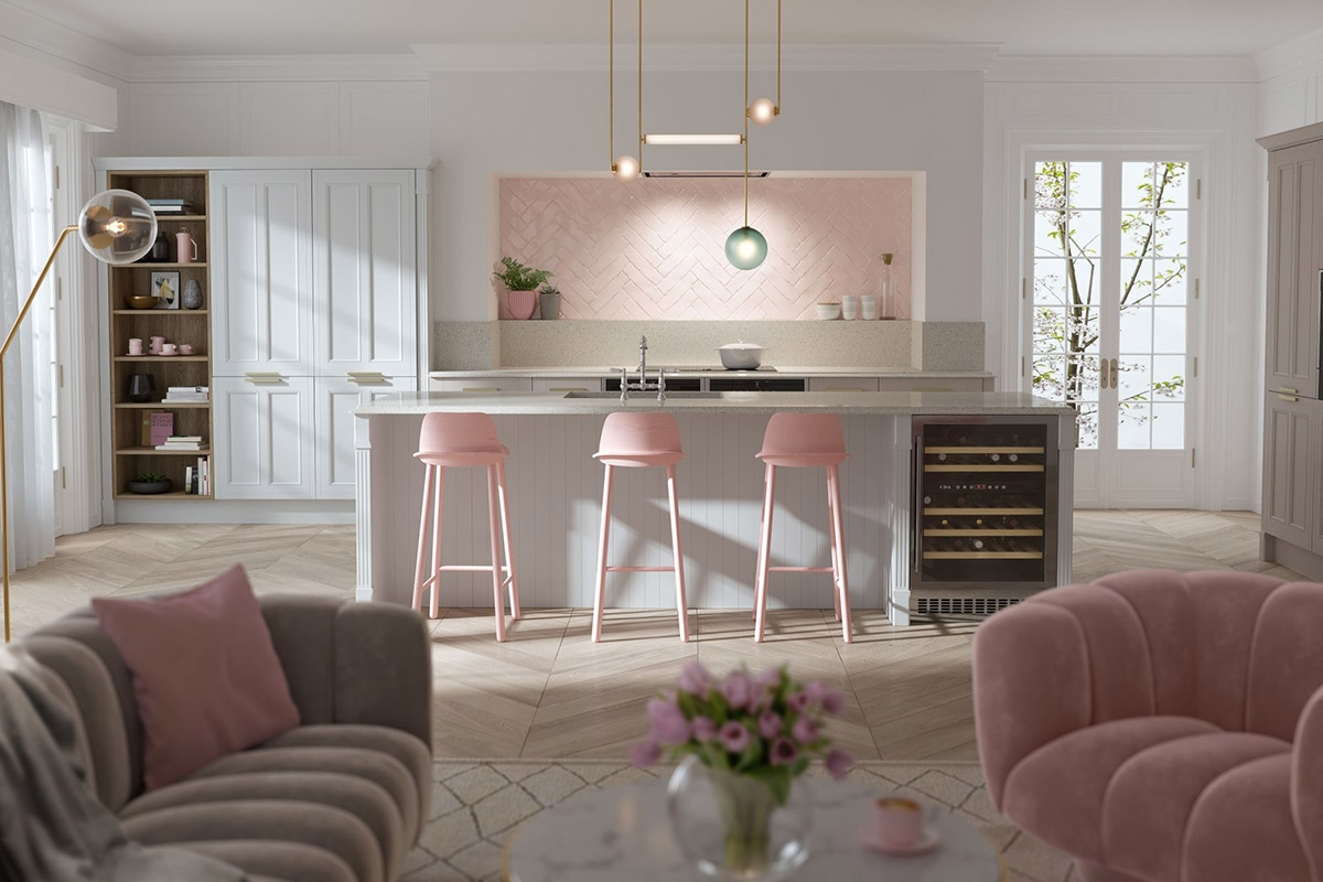 Sử dụng màu hồng một cách hài hòa trong các vật dụng, nội thất cũng là một ý tưởng không tồi