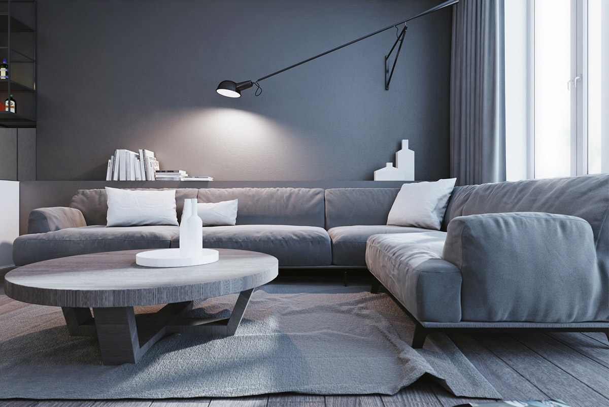 Một không gian tối giản về màu sắc và nội thất nhưng lại rất lôi cuốn và quyến rũ