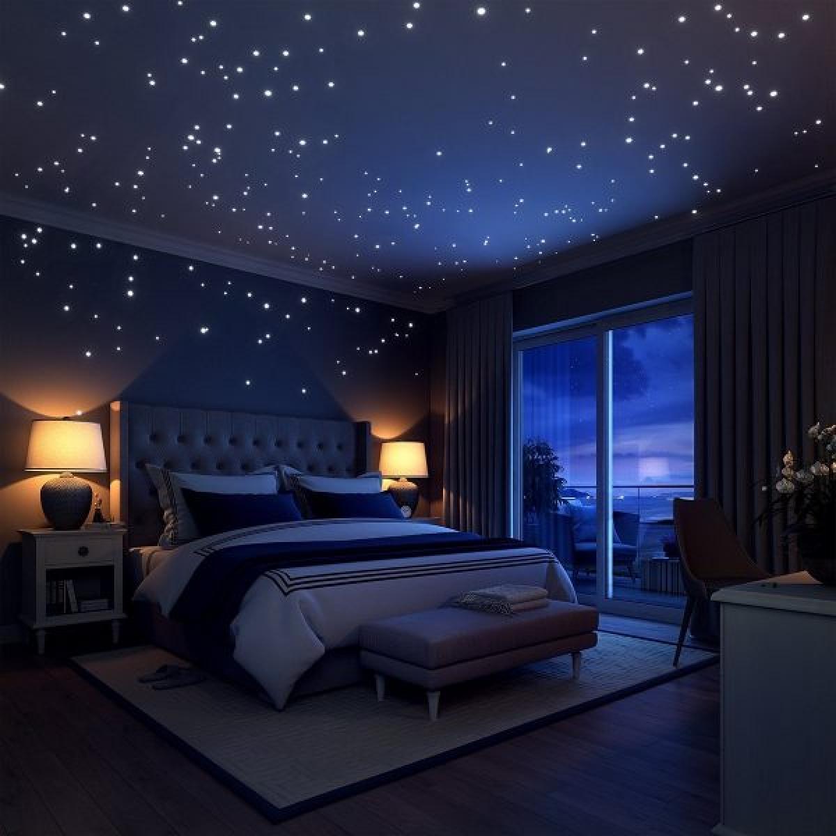 Trang trí phòng bé bằng dấy gián tường phát sáng, buổi tối không gian sẽ rất lung linh, bay bổng