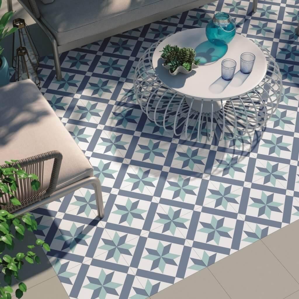 Gạch bông có thể được sử dụng cả ở trong nhà lẫn ngoài trời