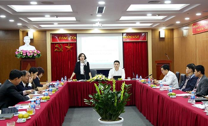 Tổng Giám đốc Quỹ Đầu tư phát triển Thành phố Chu Nguyên Thành chủ trì hội nghị. Ảnh: Bình An/ Hanoi.gov.vn