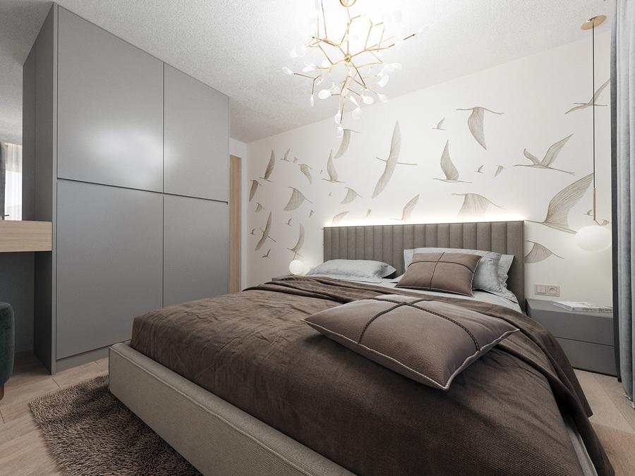 Sử dụng ánh sáng trắng để trang trí phòng ngủ, có thể bố trí thêm các loại đèn led ở khu vực giường ngủ hay kệ tủ để cung cấp ánh sáng vừa tạo điểm nhấn cho căn phòng