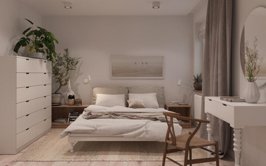 Thêm cây xanh hoặc chậu hoa có hương thơm dịu nhẹ vào phòng ngủ, giúp tinh thần sảng khoái, thư giãn hơn