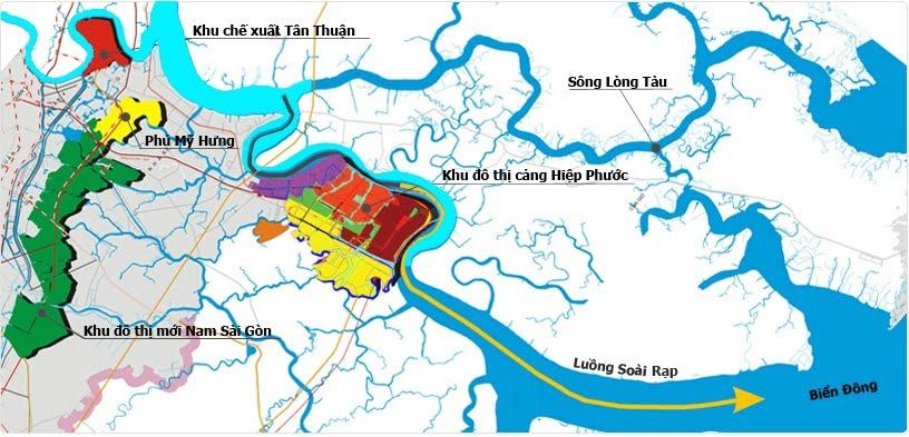 Bản đồ khu cảng Hiệp phước