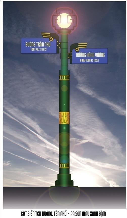 Thiết kế hình thức các cây cột điện