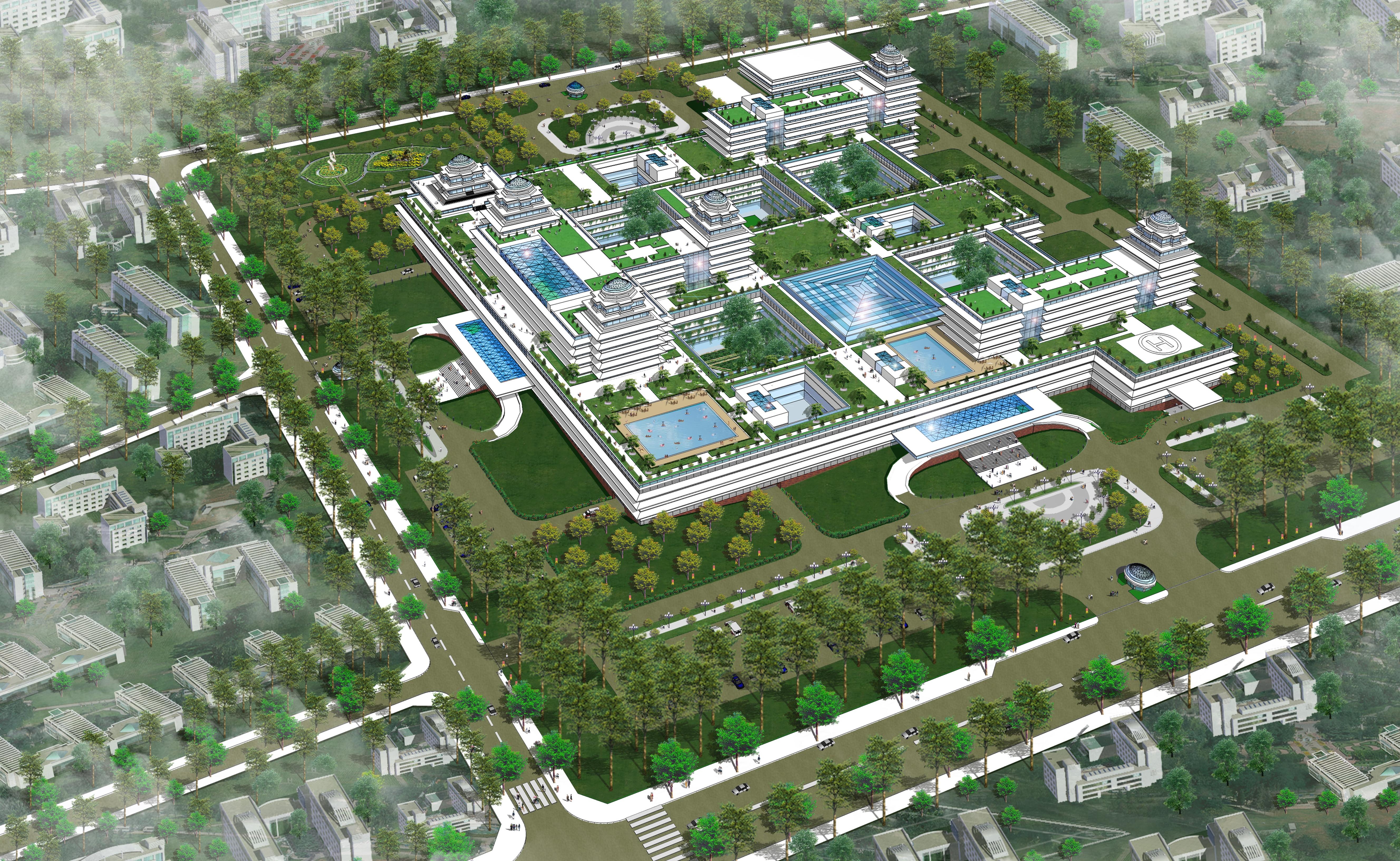 Phối cảnh Khu trung tâm đô thị sức khỏe tại Quận Ngũ Hành Sơn Đà Nẵng (Nguồn: Ngô Viết Nam Sơn)