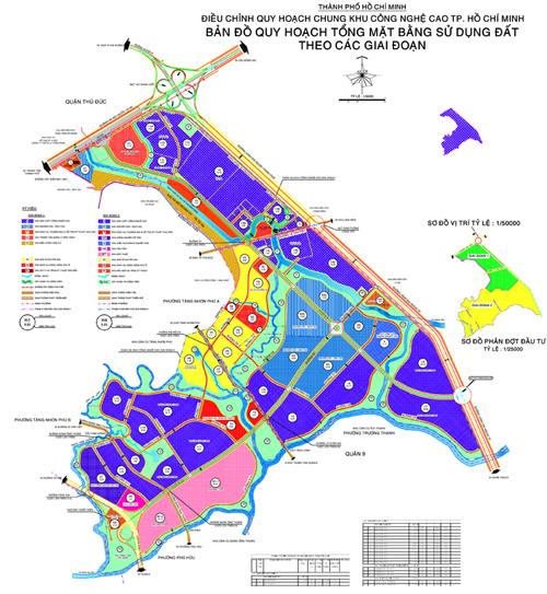 Bản đồ khu công nghệ cao TPHCM