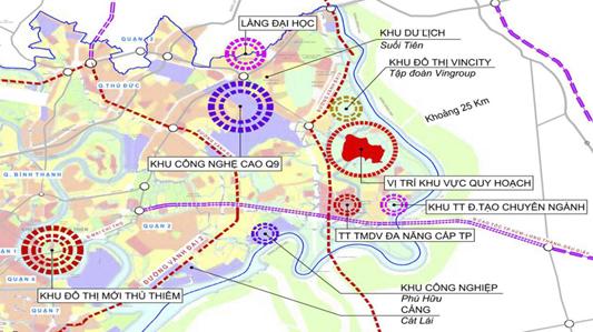 Bản đồ vị trí quy hoạch khu công viên khoa học