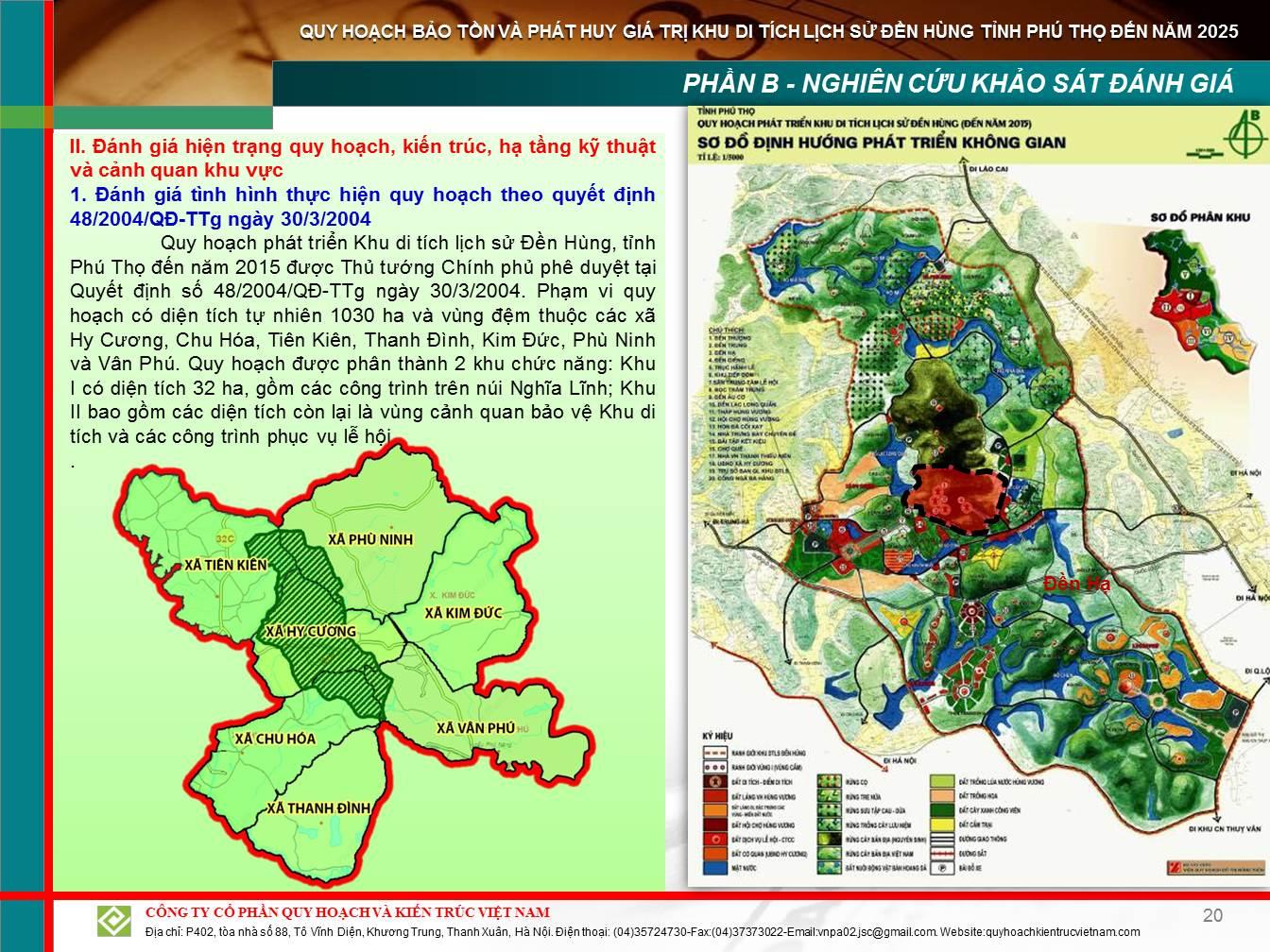 Quy hoạch khu di tích lịch sử Đền Hùng và các xã vùng ven
