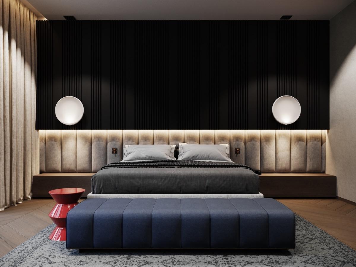 Việc sáng tạo trong trang trí, sắp xếp nội thất mang lại sự hấp dẫn cho không gian ngủ