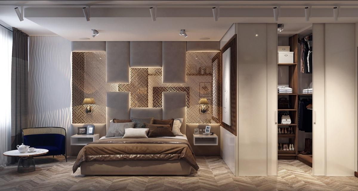 Phòng ngủ trở thành một tác phẩm nghệ thuật dày công, tỉ mỉ