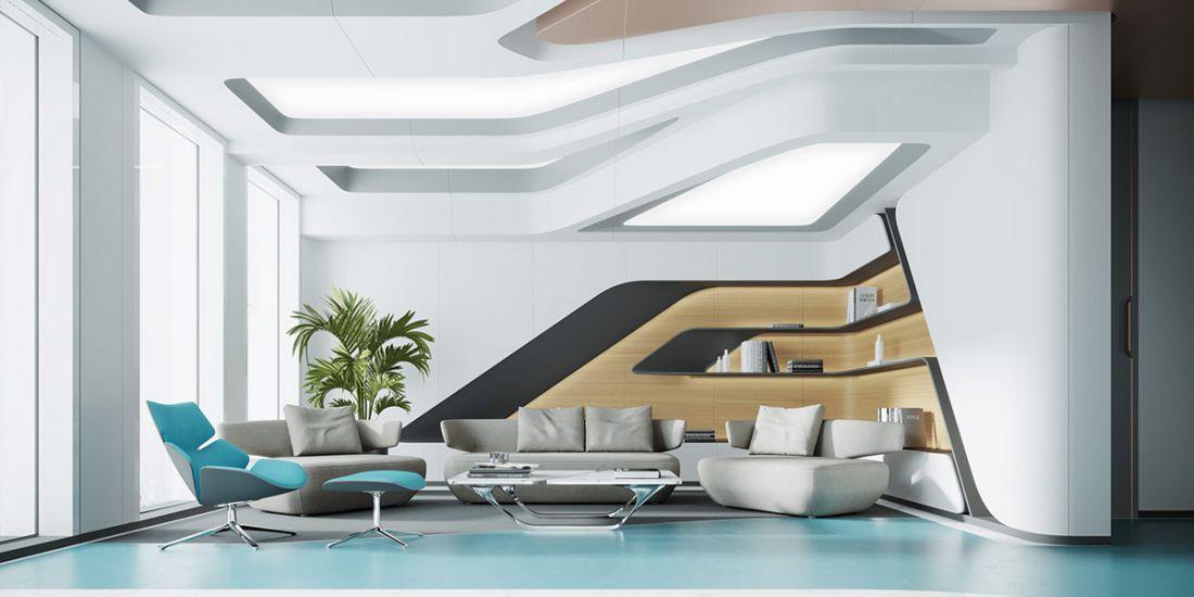 Ngôi nhà rộng 120 m2 này đưa chúng ta bay vào một phi thuyền đầy tuyệt hảo với ánh sáng chan hòa cùng lối trang trí màu xanh nước biển