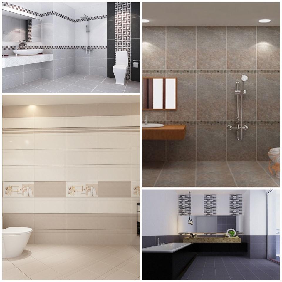 Kích thước gạch ảnh có vai trò quan trọng trong thiết kế phòng tắm