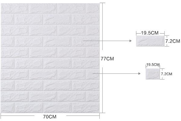 Đặc điểm, cấu tạo của xốp dán tường 3D giả gạch, giả đá
