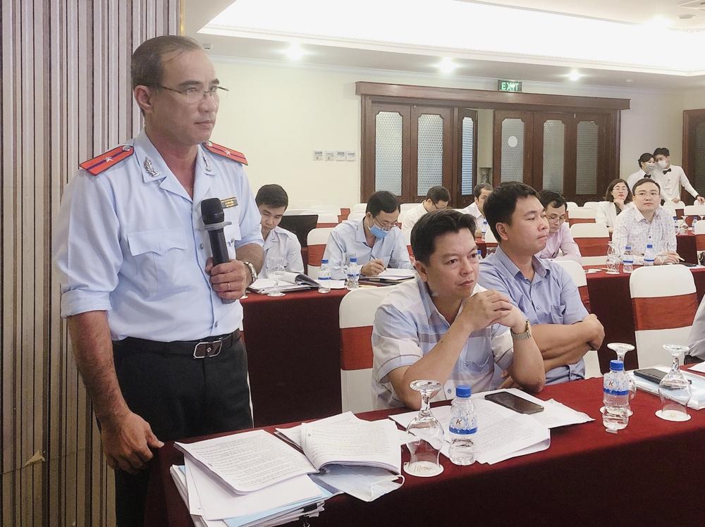 Ông Lê Hữu Hiệp, Đội Trưởng Đội Thanh tra địa bàn huyện Hóc Môn phát biểu ý kiến
