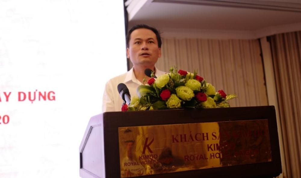 Ông Huỳnh Phạm Tuấn Anh - Phó Giám đốc Sở Xây dựng tỉnh Bình Dương trình bày ý kiến.