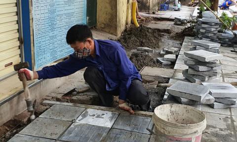 Bảo đảm chất lượng thi công lát đá vỉa hè