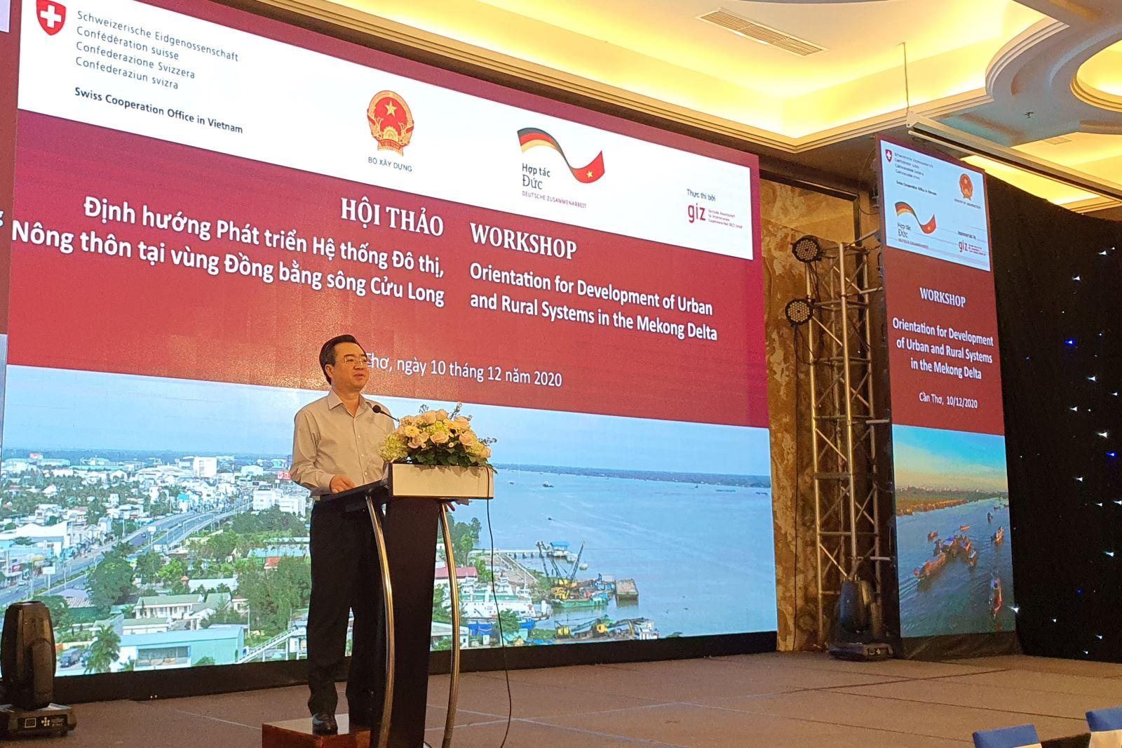 Thứ trưởng Nguyễn Thanh Nghị phát biểu khai mạc Hội thảo