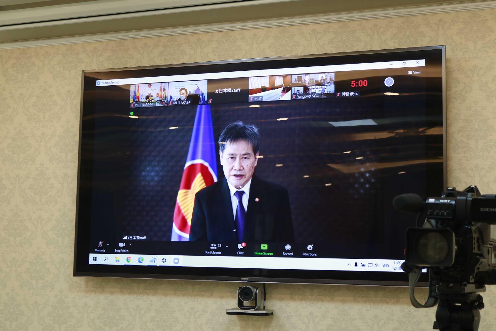 Tổng Thư ký ASEAN Lim Jock Hoi phát biểu trực tuyến tại hội nghị