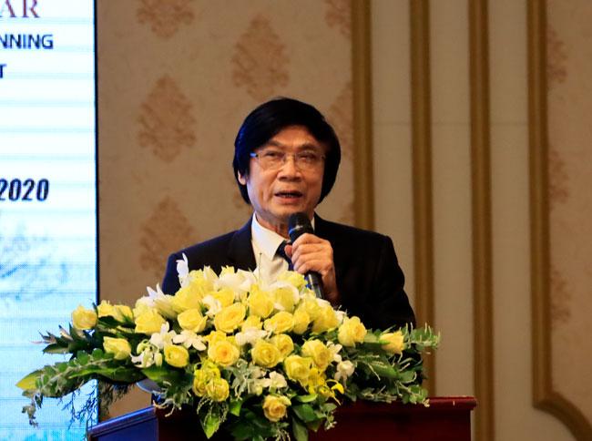 KTS. Trần Ngọc Chính - Chủ tịch Hội Quy hoạch phát triển đô thị Việt Nam phát biểu khai mạc hội thảo