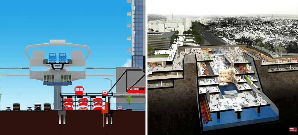 City Solution đề xuất giải pháp do đỗ xe trung tâm Hà Nội kết hợp với hạ tầng đường bộ, giao thông cá nhân và công cộng, đường sắt đô thị ngầm và trên cao. Phát triển giao thông với dịch vụ thương mại nhằm thu hút vốn đầu tư. Nguồn: TG